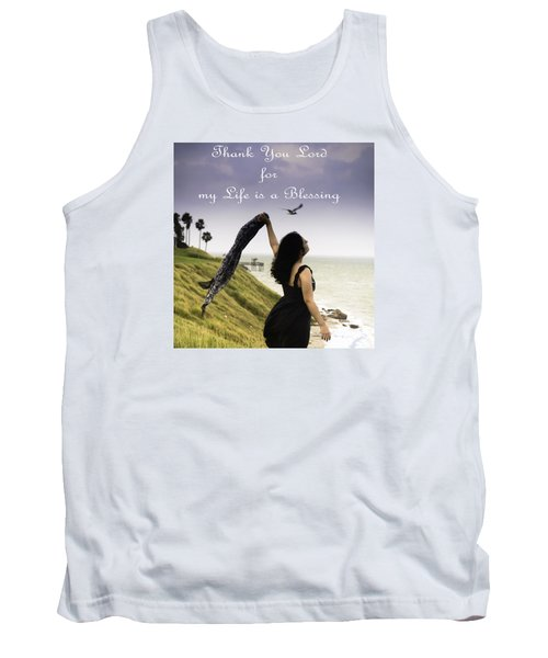 My Life A Blessing Tank Top by Leticia Latocki
