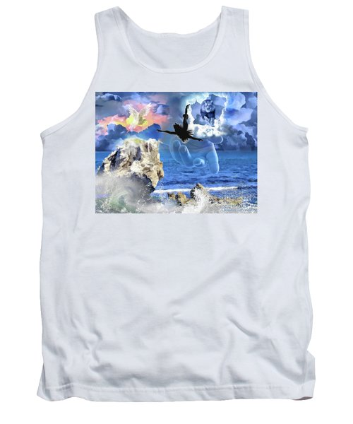 Tank Top featuring the digital art My Savior by Dolores Develde
