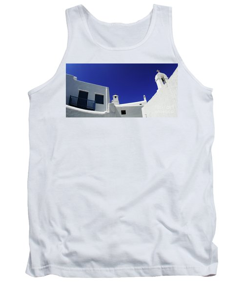 Mykonos Greece Clean Line Architecture Tank Top by Bob Christopher