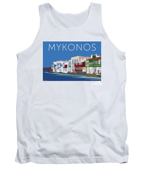 Mykonos Little Venice - Blue Tank Top