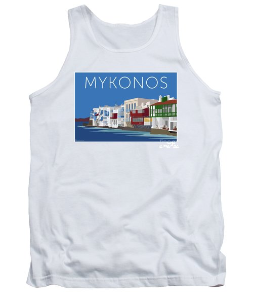 Mykonos Little Venice - Blue Tank Top