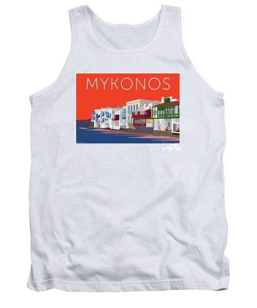 Mykonos Little Venice - Orange Tank Top