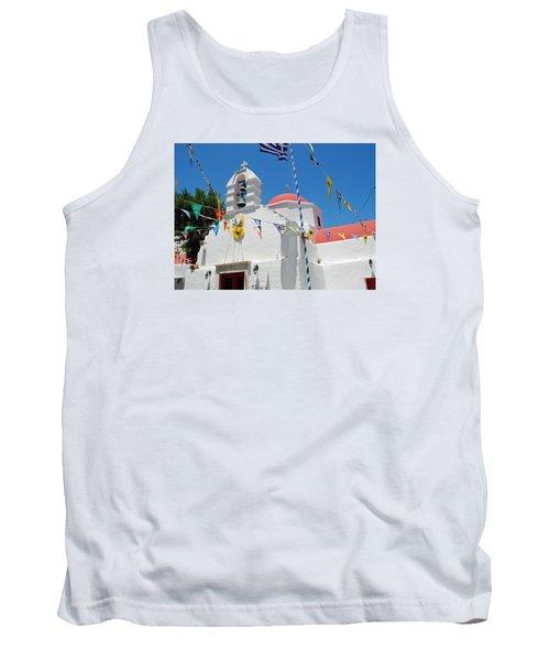 Mykonos Red Chapel Tank Top