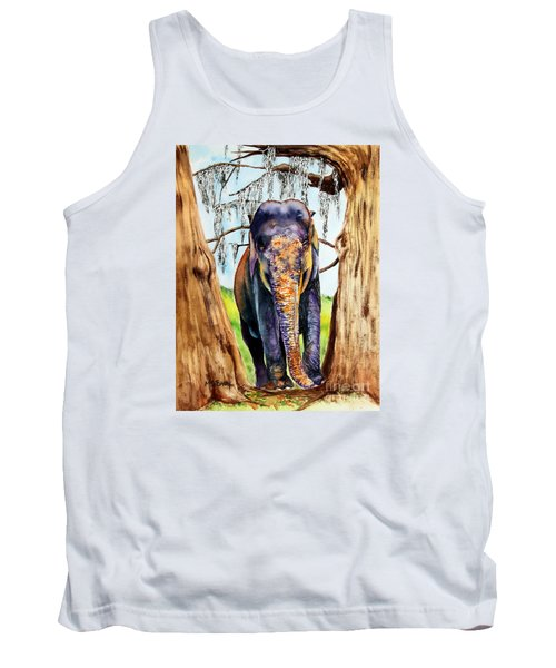 Tank Top featuring the painting Mysore by Maria Barry