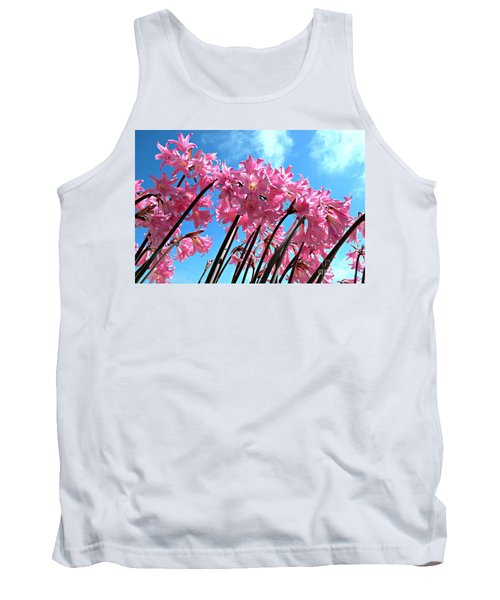 Tank Top featuring the photograph Naked Ladies by Vivian Krug Cotton