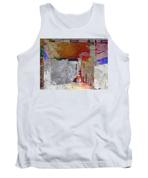 Tank Top featuring the mixed media Name This Piece by Tony Rubino