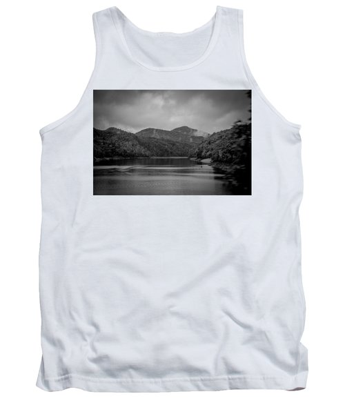 Nantahala River Great Smoky Mountains In Black And White Tank Top