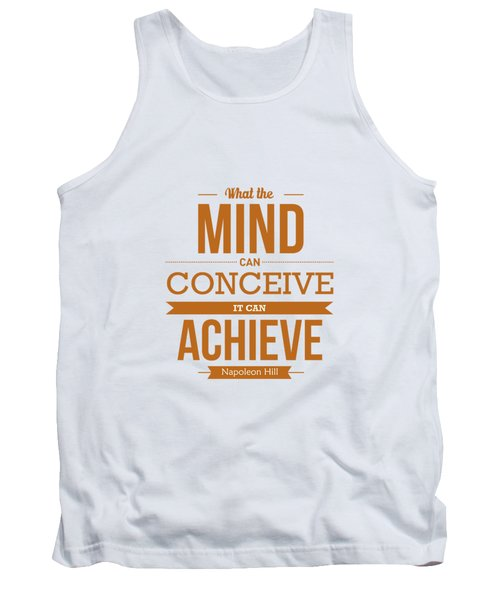 Napoleon Hill Typography Art Quotes Poster Tank Top