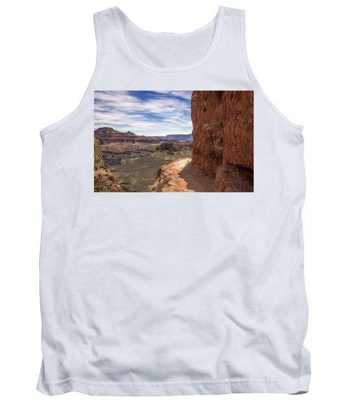 Narrow Trail On The South Kaibab Trail, Grand Canyon Tank Top