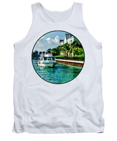 Bahamas - Ferry To Paradise Island Tank Top by Susan Savad