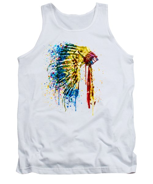 Native American Feather Headdress   Tank Top