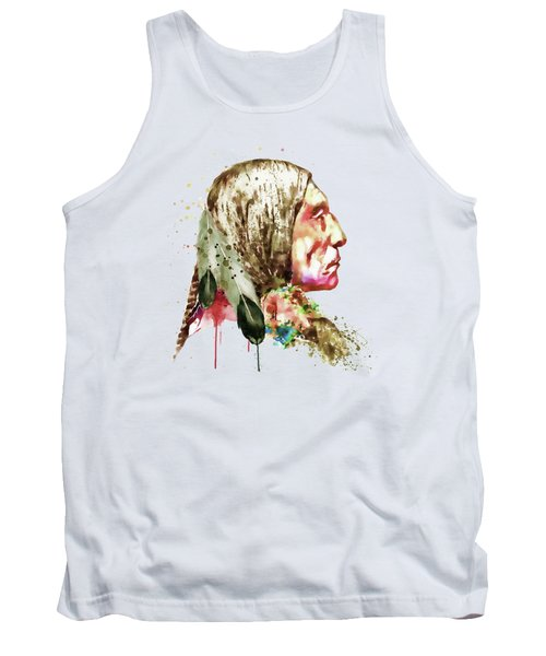 Native American Side Face Tank Top