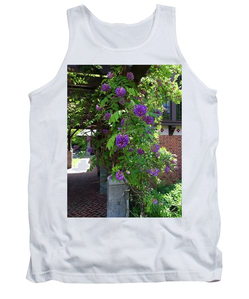 Native Wisteria Vine I Tank Top by Angela Annas