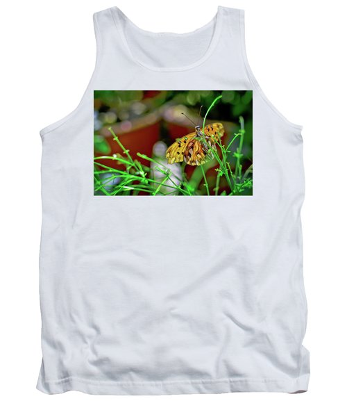 Nature - Butterfly And Plants Tank Top