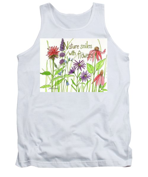 Nature Smile With Flowers Tank Top