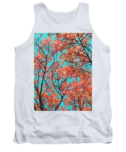 Tank Top featuring the photograph Natures Magic - Orange by Rebecca Harman