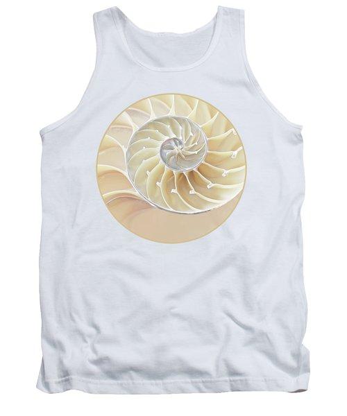 Nautilus Natural Cream Spiral Tank Top