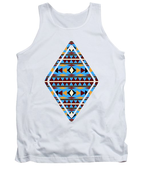 Navajo Blue Pattern Art Tank Top