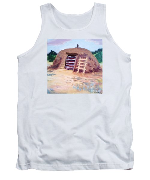 Tank Top featuring the painting Navajo Hogan by Suzanne McKay