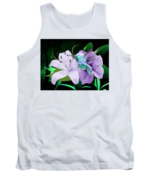 Tank Top featuring the mixed media Navigation Humming Bird by Marvin Blaine