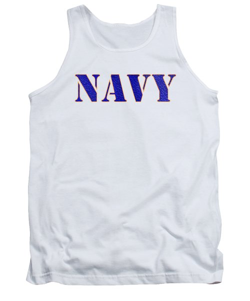 Navy Tank Top by George Robinson