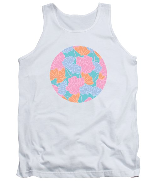 Neon Floral Tank Top
