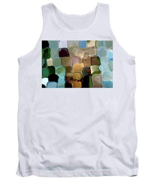 Neutrals In Light Abstract Tank Top by Haleh Mahbod