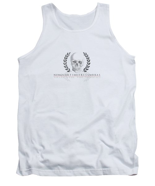 Never Fear The Shadows Stoic Skull With Laurels Transparent Tank Top