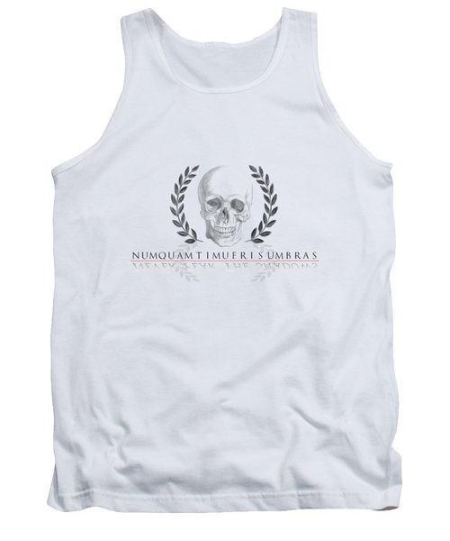 Never Fear The Shadows Stoic Skull With Laurels Tank Top