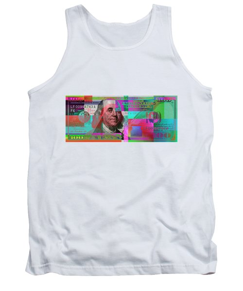 New 2009 Series Pop Art Colorized Us One Hundred Dollar Bill  No. 3 Tank Top