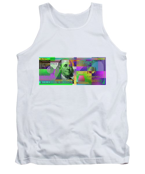 New 2009 Series Pop Art Colorized Us One Hundred Dollar Bill  No. 4 Tank Top