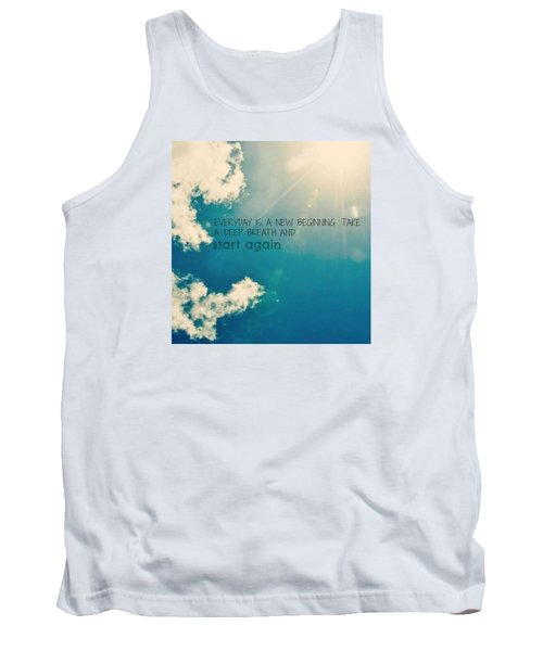 Tank Top featuring the photograph New Beginning by Artists With Autism Inc