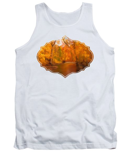 New England Autumn In The Woods Tank Top by Becky Herrera