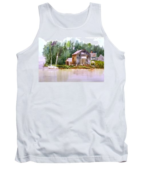 New England Boat Repair Tank Top by Larry Hamilton