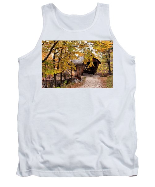 New England College No. 63 Covered Bridge  Tank Top by Betty Pauwels