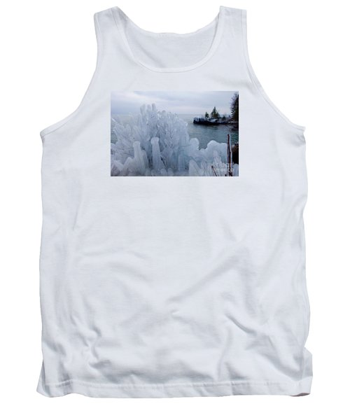 New Ice On Lake Superior Tank Top by Sandra Updyke