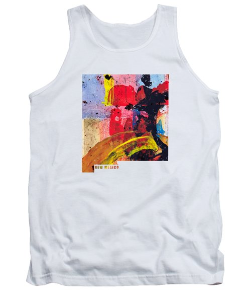 New Mexico Map Art - Painted Map Of New Mexico Tank Top