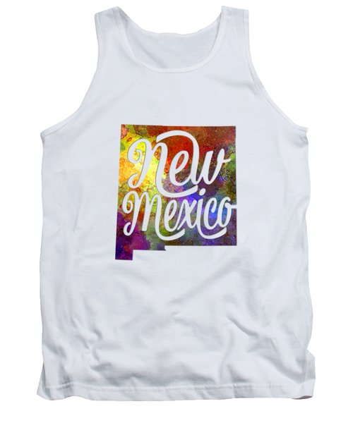 New Mexico Us State In Watercolor Text Cut Out Tank Top