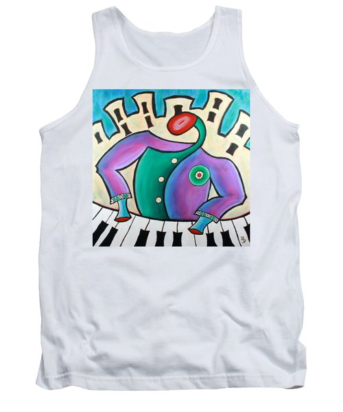 Tank Top featuring the painting New Orleans Cool Jazz Piano by Bob Baker