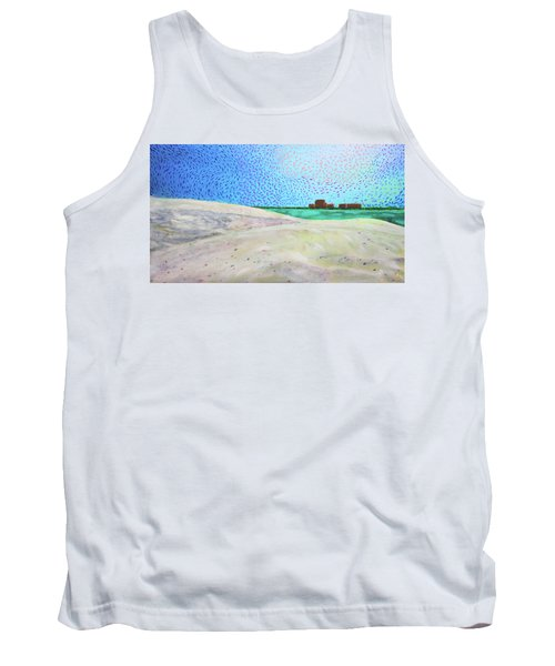 New Smyrna Beach As Seen From A Dune On Ponce Inlet Tank Top