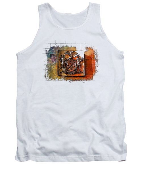 New York 1664 Earthy Rainbow 3 Dimensional Tank Top