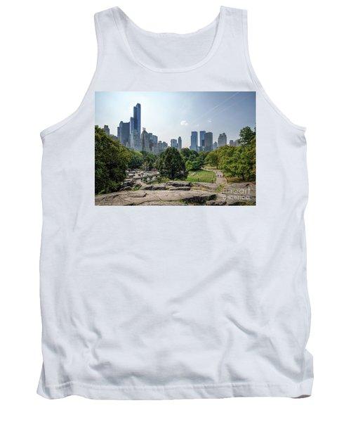 New York Central Park With Skyline Tank Top