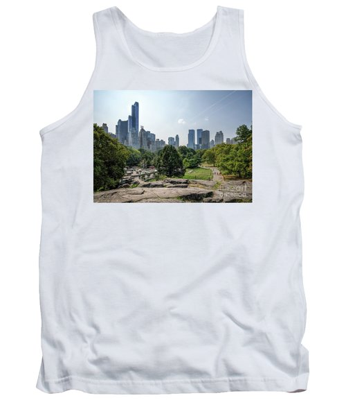 New York Central Park With Skyline Tank Top