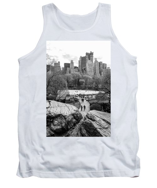 New York City Central Park Ice Skating Tank Top