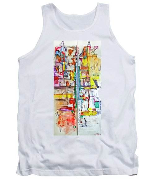 New York City Icons And Symbols Tank Top