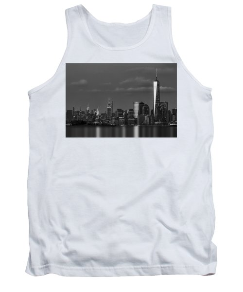 Tank Top featuring the photograph New York City Icons Bw by Susan Candelario