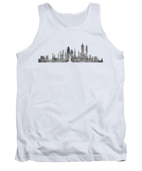 New York City Skyline B/w Tank Top