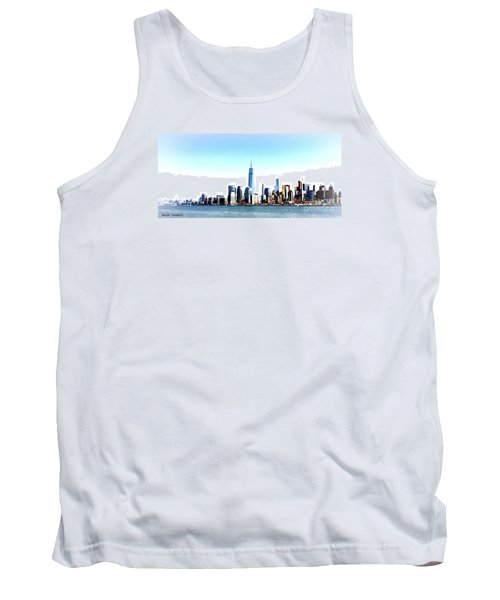 Tank Top featuring the painting New York City Skyline by Denise Tomasura