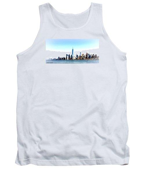 New York City Skyline Tank Top by Denise Tomasura