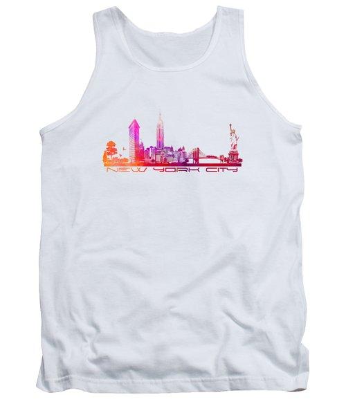 New York City Skyline Purple Tank Top
